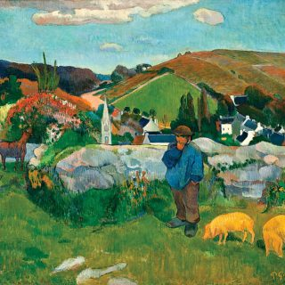 Breton Landscape with Swineherd