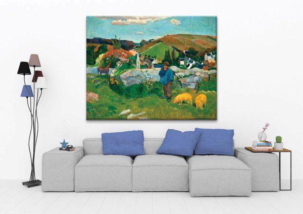 Breton Landscape with Swineherd