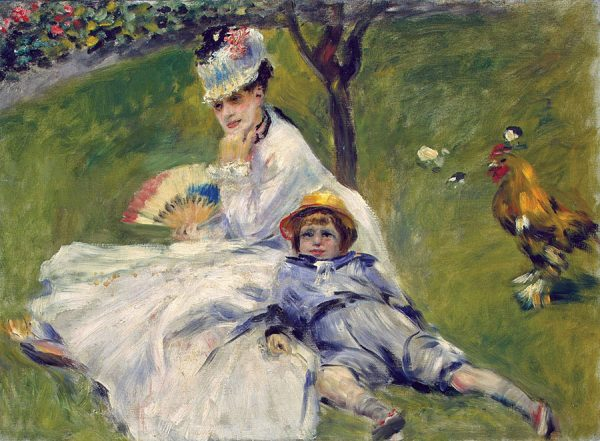 Camille Monet and her Son Jean in the Garden of Argenteuil