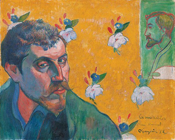 Self portrait with portrait of Bernard, 'Les Misérables'