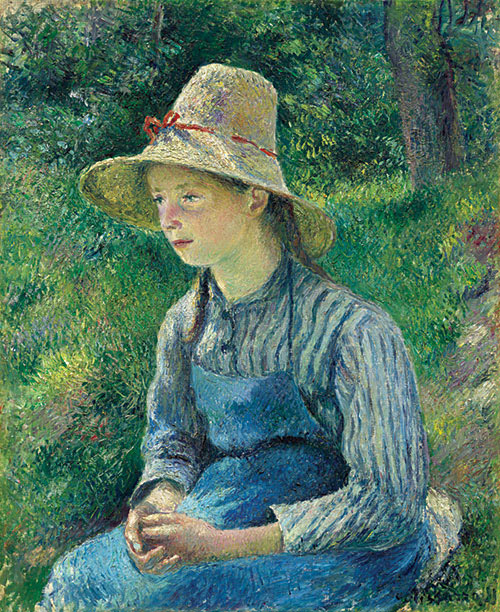 Peasant Girl with a Straw Hat
